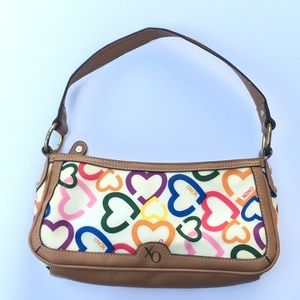 XOXO hearts mini shoulder bag baguette purse